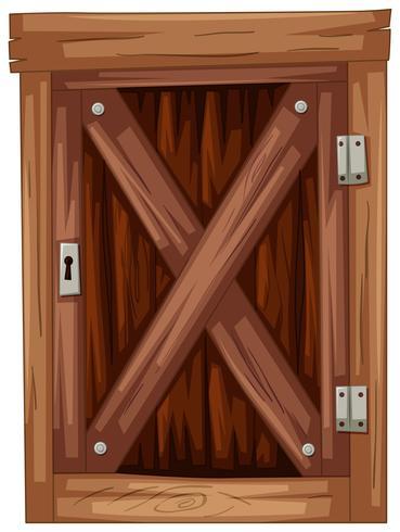 Porta de madeira velha no fundo branco