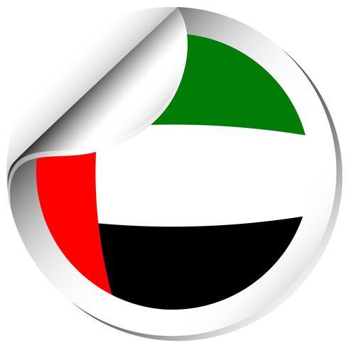 Sticker design for flag of Arab Emirates vector