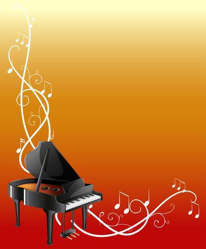 Achtergrondmalplaatje met grote piano