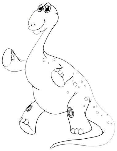 Contorno animal para o braquiossauro