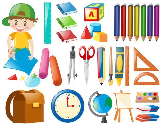 Diversi oggetti per la scuola - Scarica Immagini Vettoriali Gratis ...