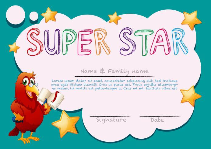 Certificaatsjabloon voor superster