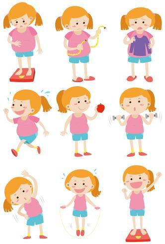 Mulher fazendo atividades para perder peso