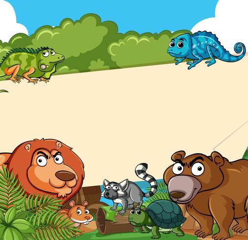 Bakgrundsmall med kanske djur