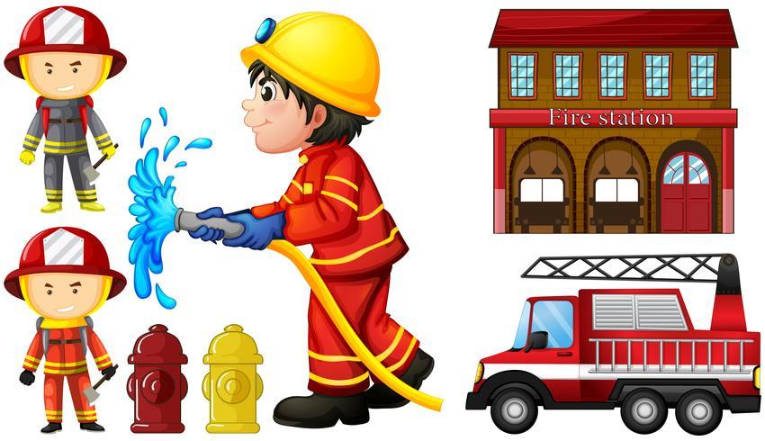 Brandmän och brandstation