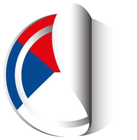 Bandeira da República Checa em design de etiqueta