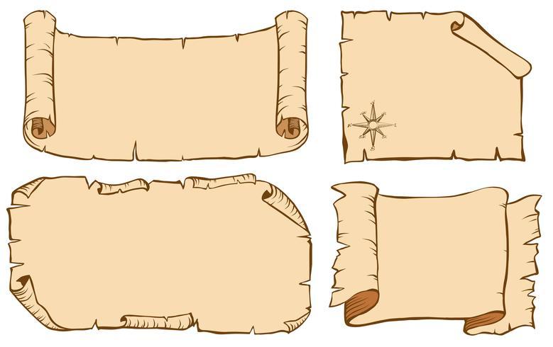 Quattro design per modelli di carta
