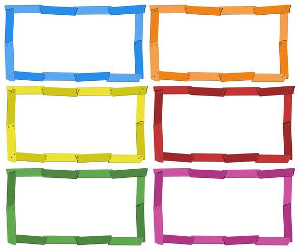 Modelo de quadro em seis cores