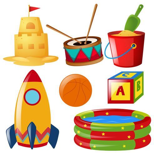 Verschillende speelgoedartikelen