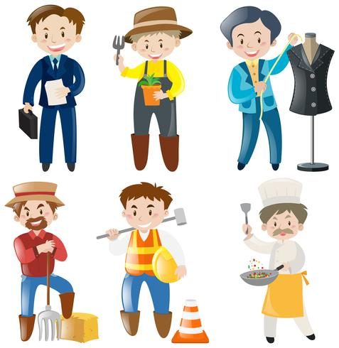 People doing different kinds of jobs