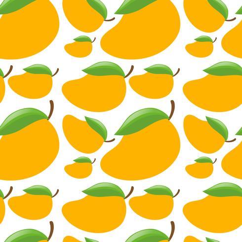Sömlös bakgrund med färska mango