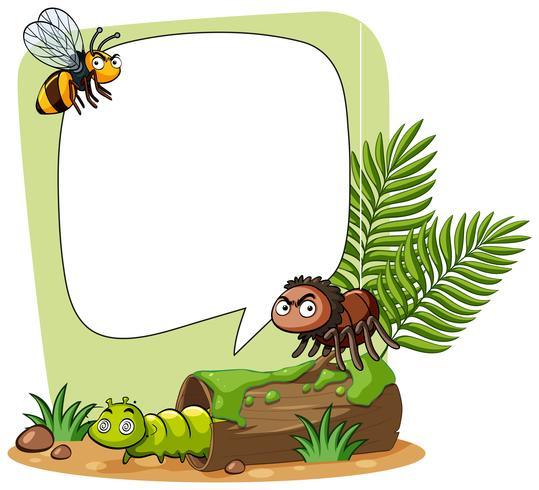 Modelo de fronteira com insetos no parque