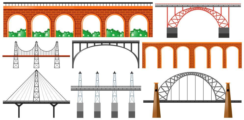 Olika konstruktioner av broar