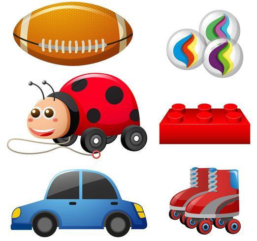 Diferentes tipos de juguetes vector