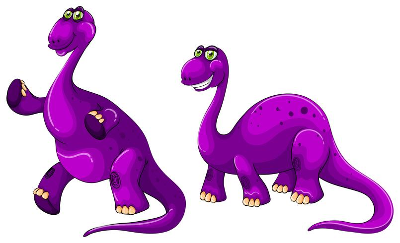 Braquiossauro roxo em pé sobre duas pernas