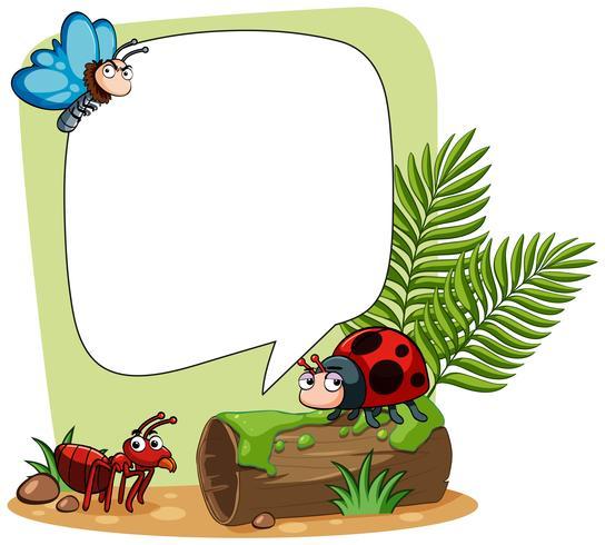 Gränsmall med många insekter