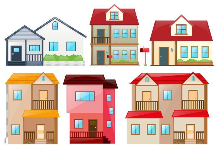 Unterschiedliches Design der Häuser