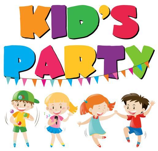 Muchos niños se divierten en la fiesta