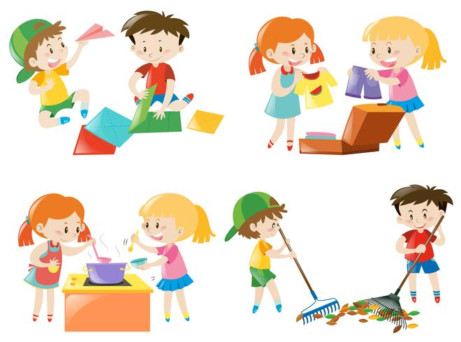 I bambini fanno diverse attività