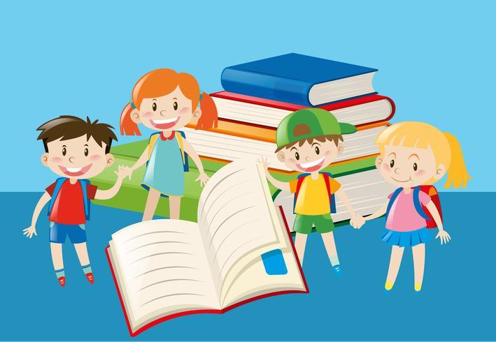 Books and happy children