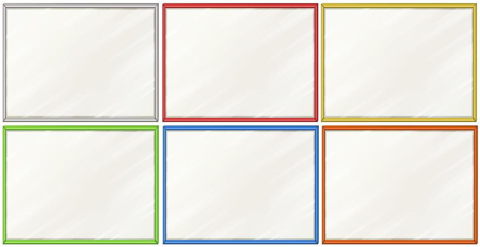 Blank boards with six color frames