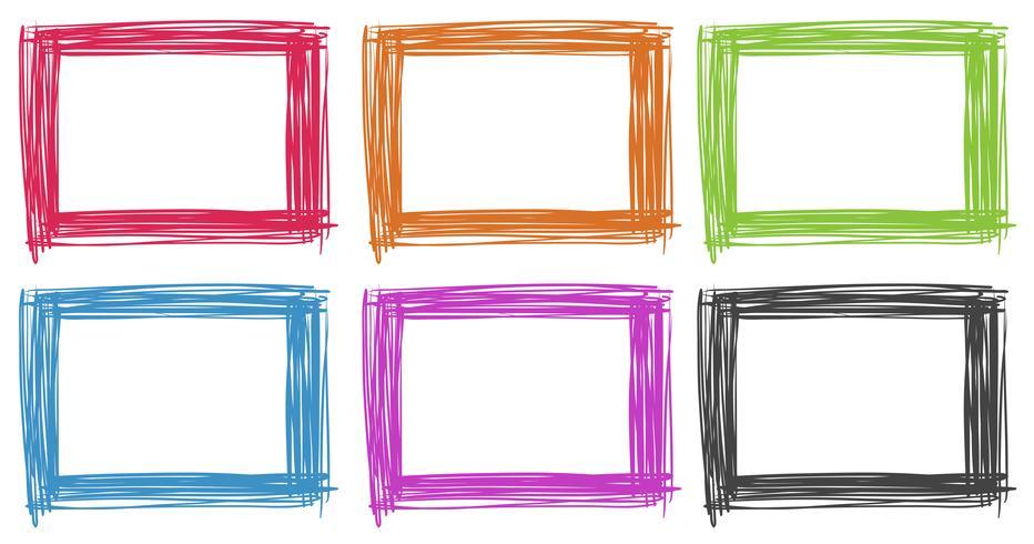 Rahmendesign in verschiedenen Farben