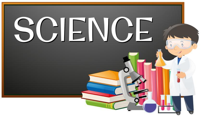 Professor e assunto da ciência na escola