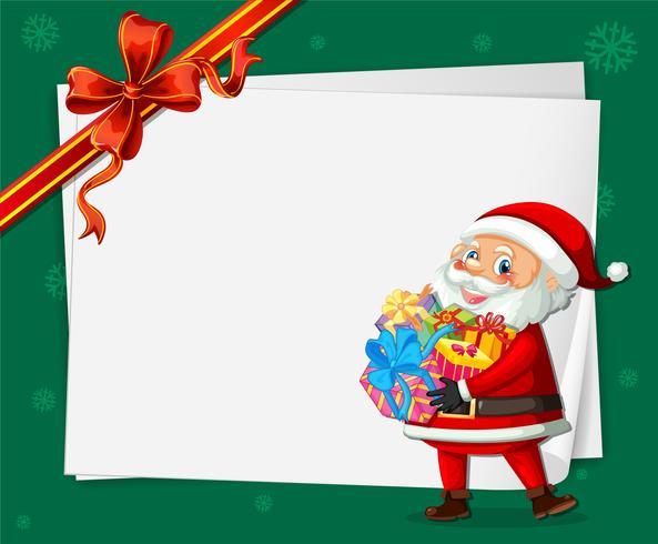 Santa sul modello di cartolina di Natale