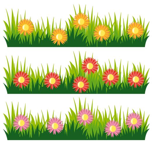 Seamless nature design with flowers