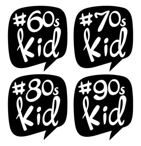 Design adesivo per bambini di diverse generazioni