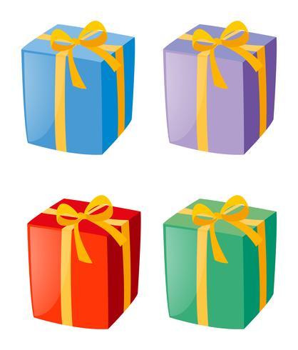Cuatro cajas de regalos