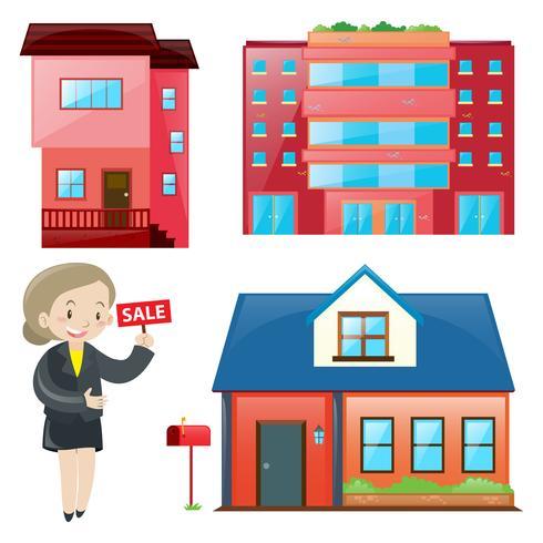 Försäljningsagent och olika typer av boende