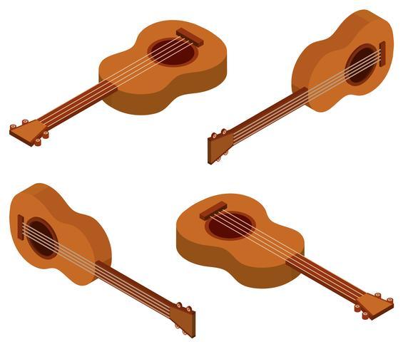3D-design för ukulele vektor