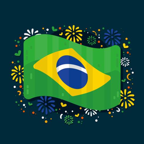 Vettore di bandiera del Brasile