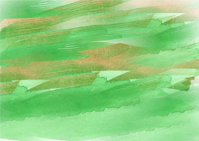 Färgglada handmålade akvarellbakgrund. Grön akvarellborstslag. Abstrakt vattenfärgstekstur och bakgrund för design. Akvarell bakgrund på texturerat papper. vektor