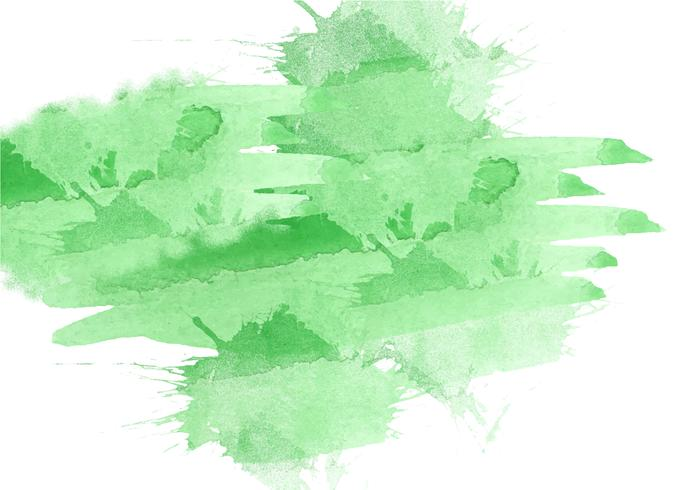 Fondo pintado a mano colorido de la acuarela. Pinceladas de acuarela verde. Textura y fondo abstractos de la acuarela para el diseño. Fondo de acuarela sobre papel con textura. vector