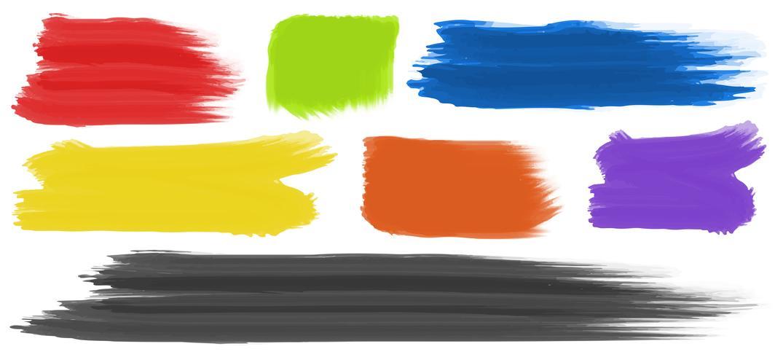 Pinceladas com cores diferentes