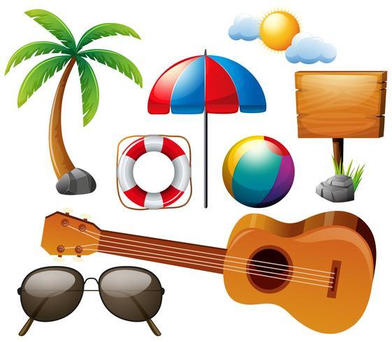 Sommer mit Gitarre und anderen Elementen gesetzt