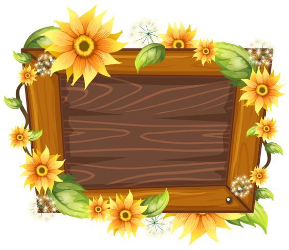 Holzrahmen mit Blume