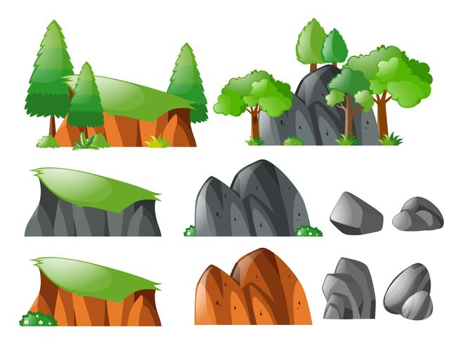 Rocks and cliff set