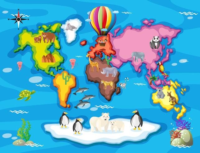Wilde Tiere aus aller Welt vektor