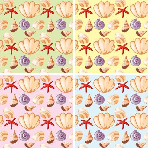 Progettazione senza cuciture del fondo con i seashells