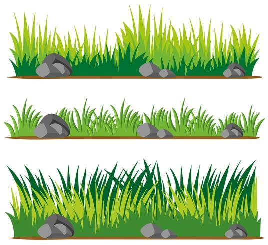 Seamless design for grass and rocks vector