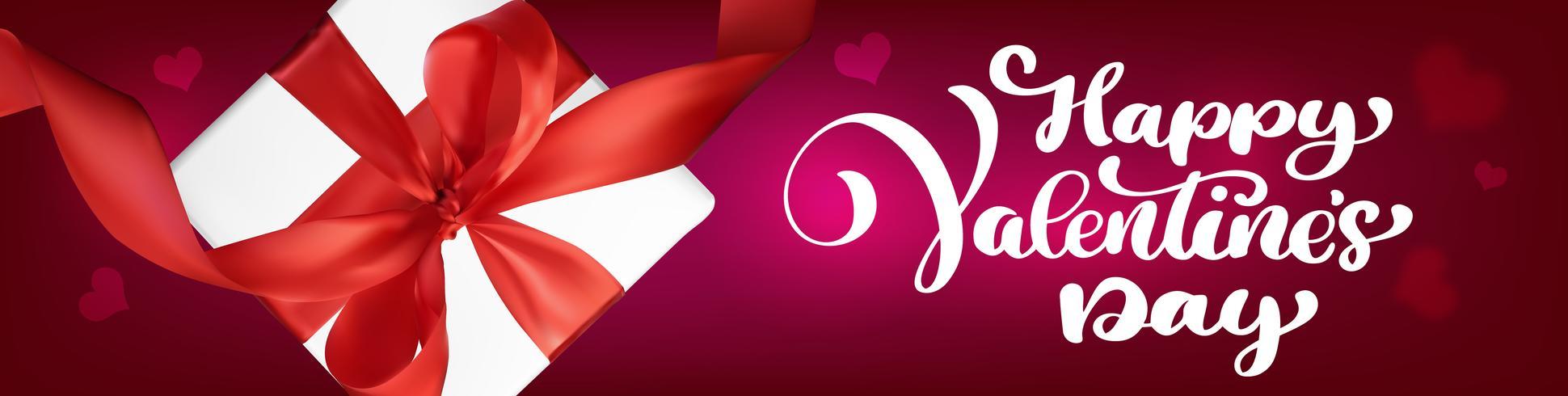 Tekst handschrift Happy Valentines day banners