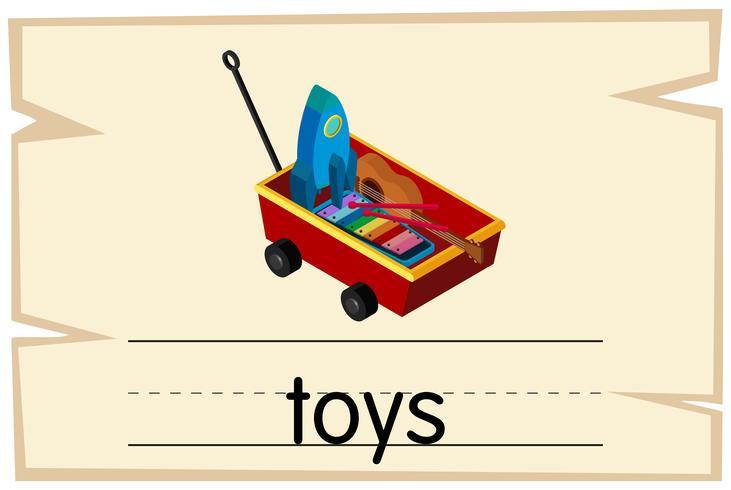 Wordcard-Vorlage für Wortspielzeug
