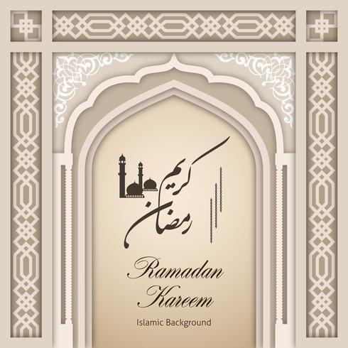 Ramadan Kareem Greeting Background Islamic Arch