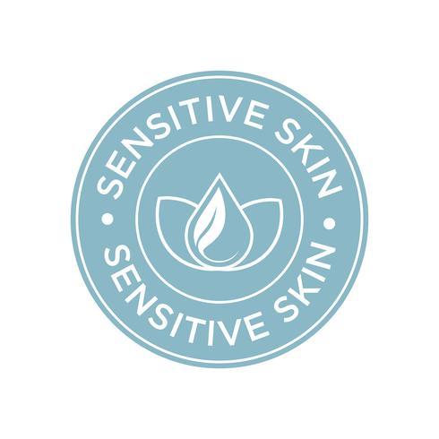 Sensitive skin icon.  vector