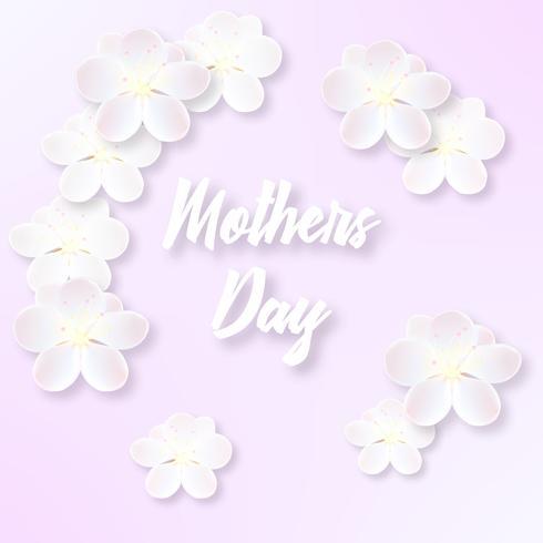 Illustration för mors dag med känsliga sakura blommor vektor