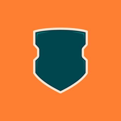 Plantilla de placa de escudo en blanco futuristas policías