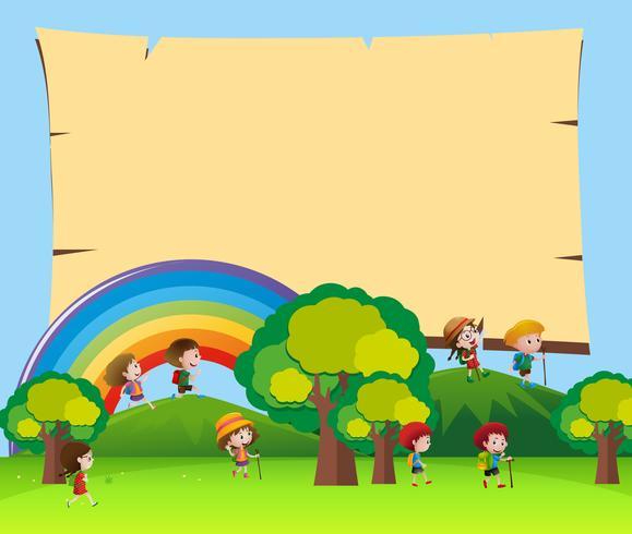 Board mall med barn i parken vektor